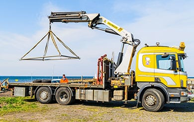 Operate a Vehicle Loading Crane
